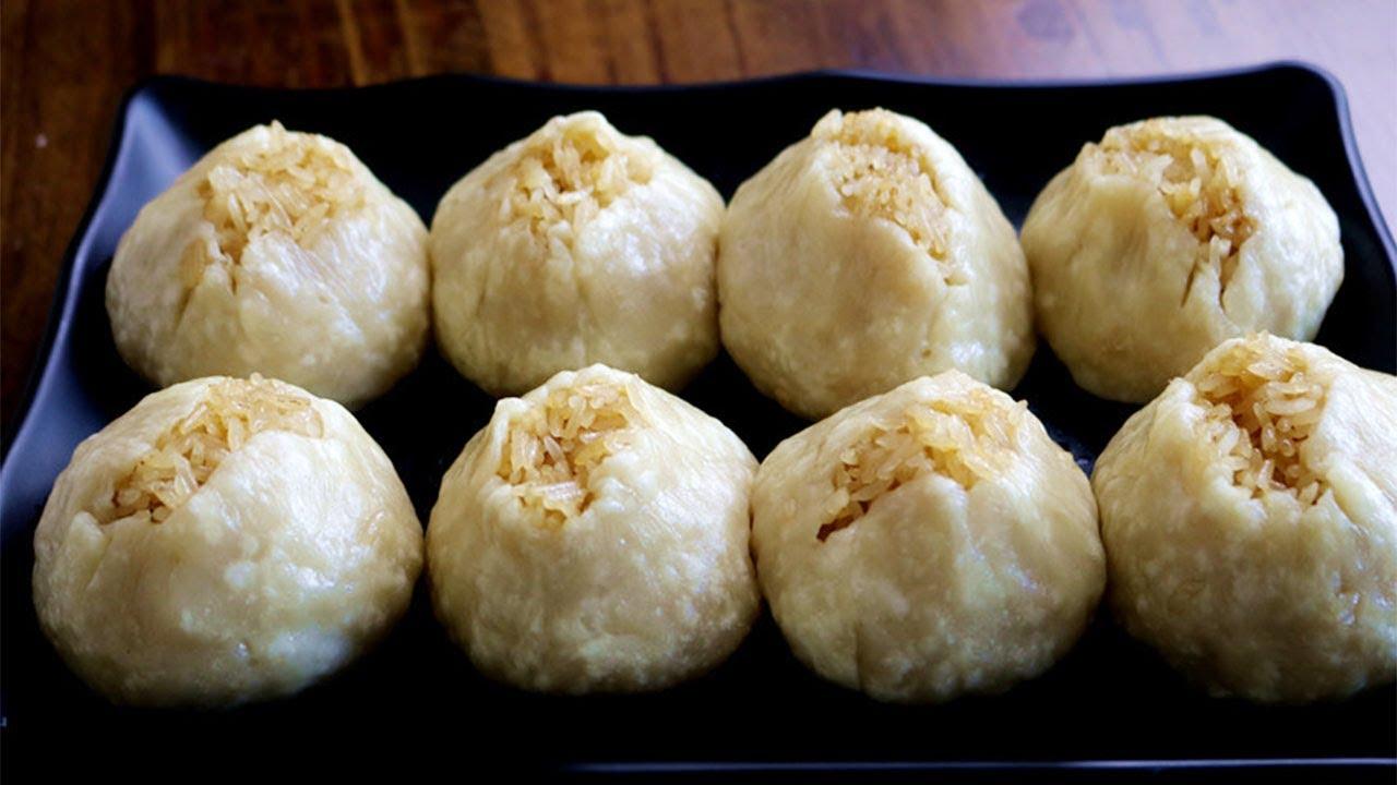 糯米燒麥這樣做皮薄餡大,軟糯鮮香,一口一個很過癮,比買的好吃【夏媽廚房】
