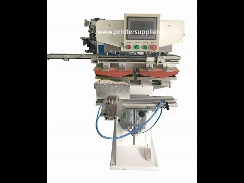 Two Color Pad Printing Equipment for Sport Shoes Heel