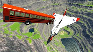 Beamng drive - Throwing Cars At Airplanes The New Avro Arrow