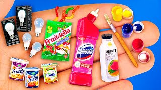 11 EASY DIY MINIATURE REALISTIC FOOD AND DRINKS FOR BARBIE DOLLHOUSE