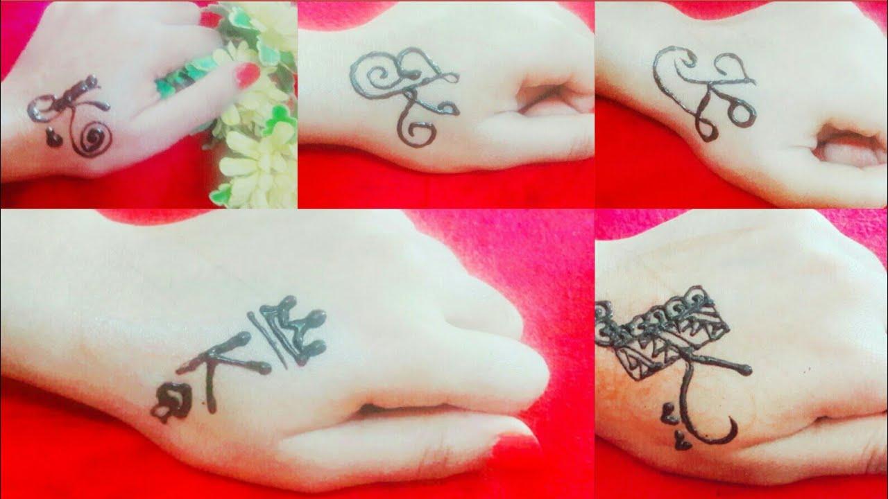 51290e6ca3be9 5 different 'K' letter mehndi tattoo| | 'K' Alphabet tattoo designs ...