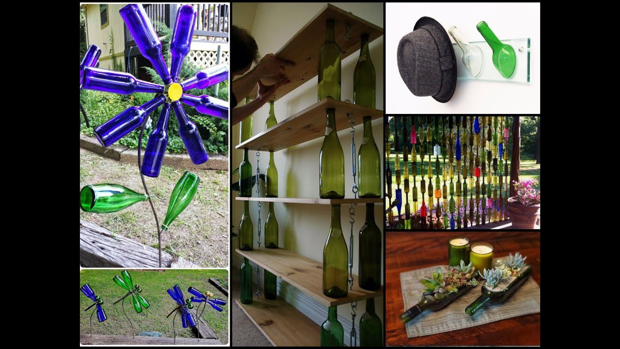 DIY Recycled Wine Bottles Ideas   Wine Bottle Crafts Inspo   YouTube