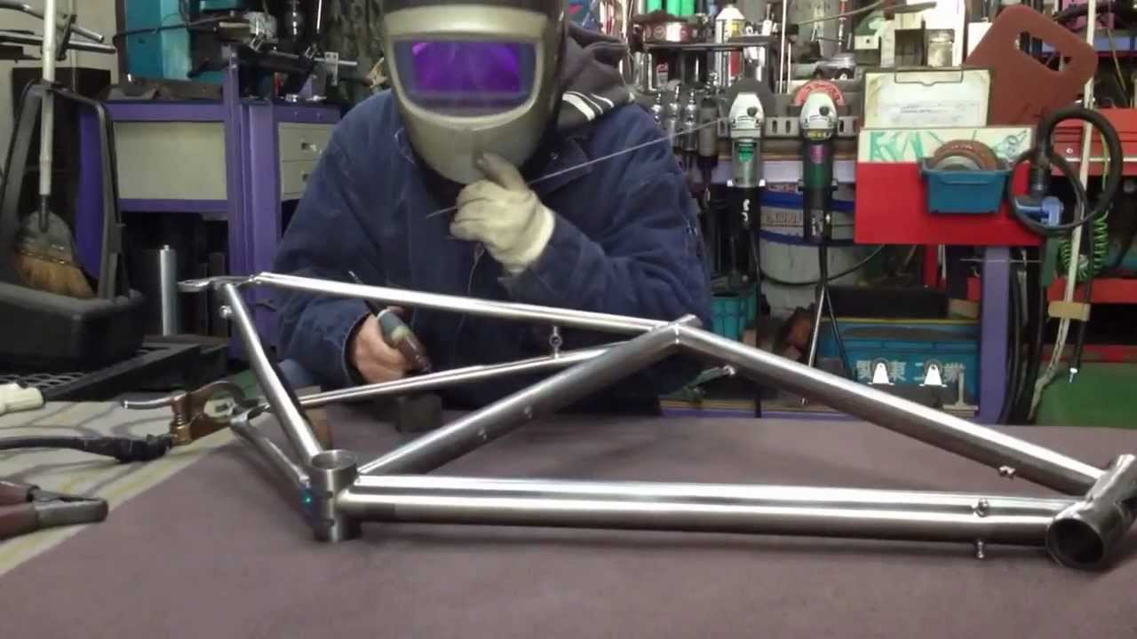 Titanium Bicycle Frame welding - YouTube