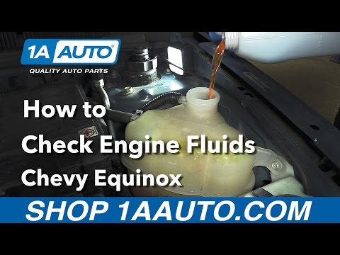How to Check the Engine Fluids 2008 Chevy Equinox Buy Quality Auto Parts at 1AAuto.com