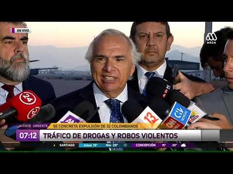 Chile expulsa 114 extranjeros con antecedentes penales