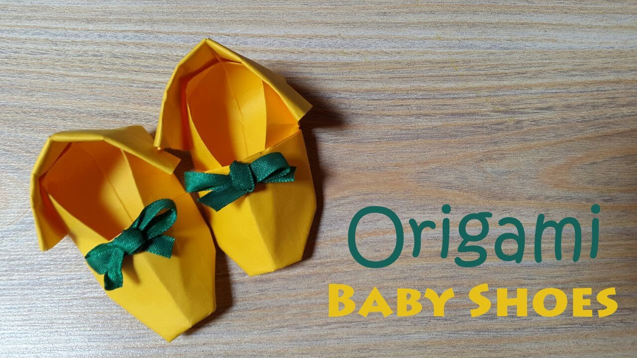 How To Make Cute Baby Shoes Origami