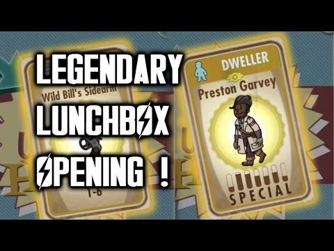 LEGENDARY LUNCHBOX OPENING ! (40 Packs) - Fallout Shelter