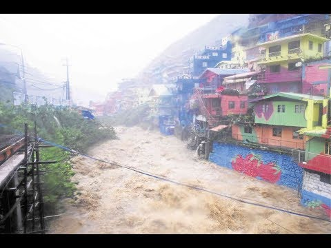 SUPER TYPHOON MANGKHUT/ OMPONG SLAMS the NORTHERN PHILIPPINES - Baguio City & Bontoc