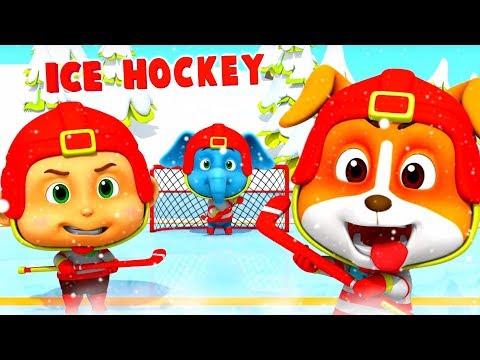 Ice Hockey | Cartoons For Children & Kids | Fun Videos For Babies