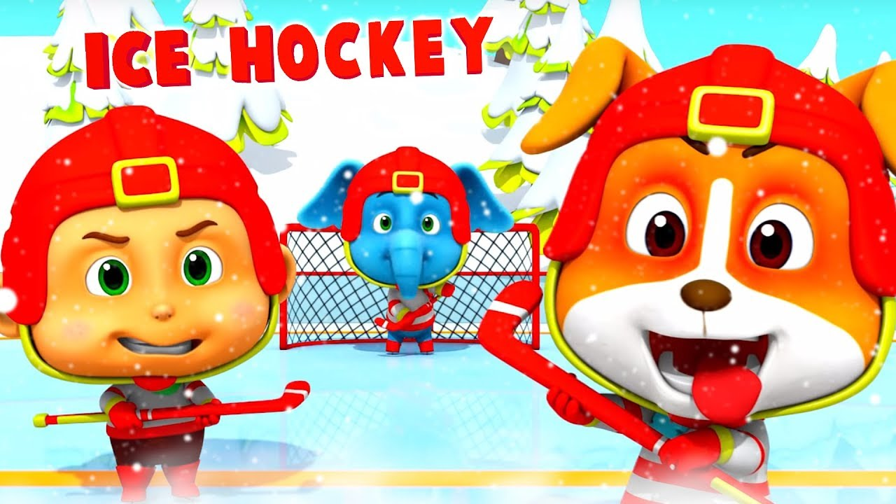 Ice Hockey Cartoons For Children Kids Fun Videos For Babies Youtube