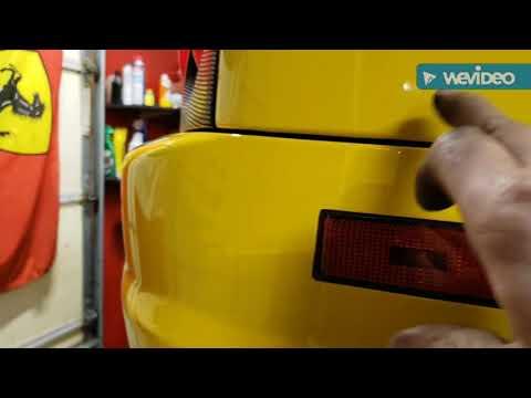 FERRARI 360 rear bumper install