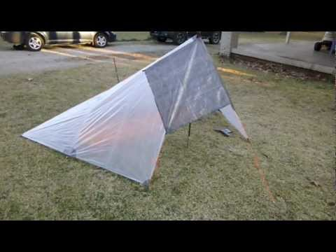Pitching a Flat Tarp In the Half Pyramid + Storm Mode