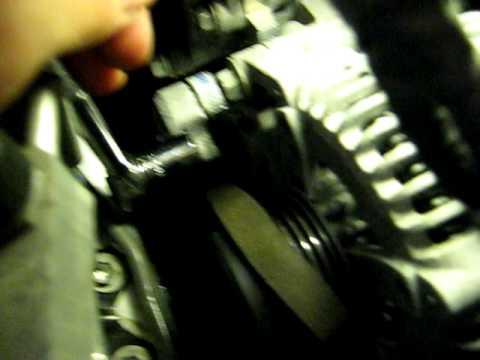 Serpentine Belt Tensioner >> 2010 Toyota Camry SE - Serpentine Accessory Belt Tensioner Released - Slip Off Alternator - YouTube