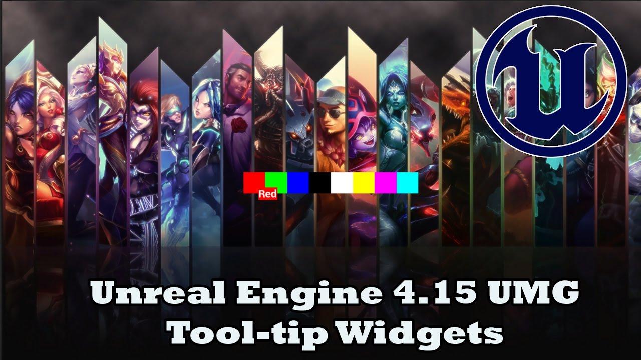 Unreal Engine 4 15 UMG Tool-tips Tutorial | DevinLevelDesign