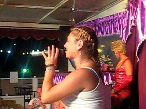 Eva la diva in sparkles show bar gran canaria singing i just want to dance youtube - Diva giugliano bar ...