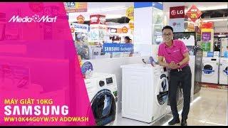 Máy giặt Samsung Addwash 10Kg lồng ngang WW10K44G0YWSV: Cửa phụ thông minh, giặt tiện lợi