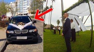 Жених думал, что из машины выйдет его невеста, но когда автомобиль подъехал, он ужаснулся!