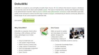 DokuWiki Document Wiki Appli¢ation - Part 1