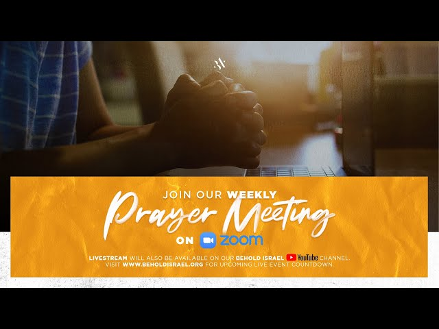Zoom Meeting for Weekly Prayer Call
