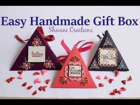 Easy Handmade Gift Box/ How to make Gift Box/ DIY Chocolate Box