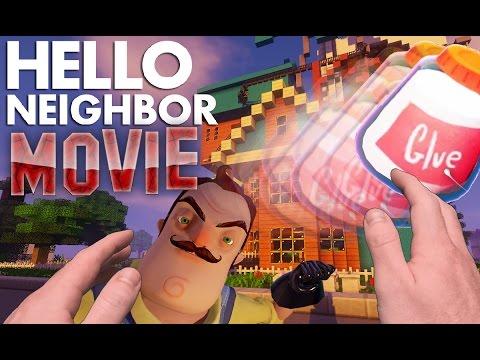 Realistic Minecraft: Hello Neighbor Alpha 3 Movie. Glue, Traps and Secrets.