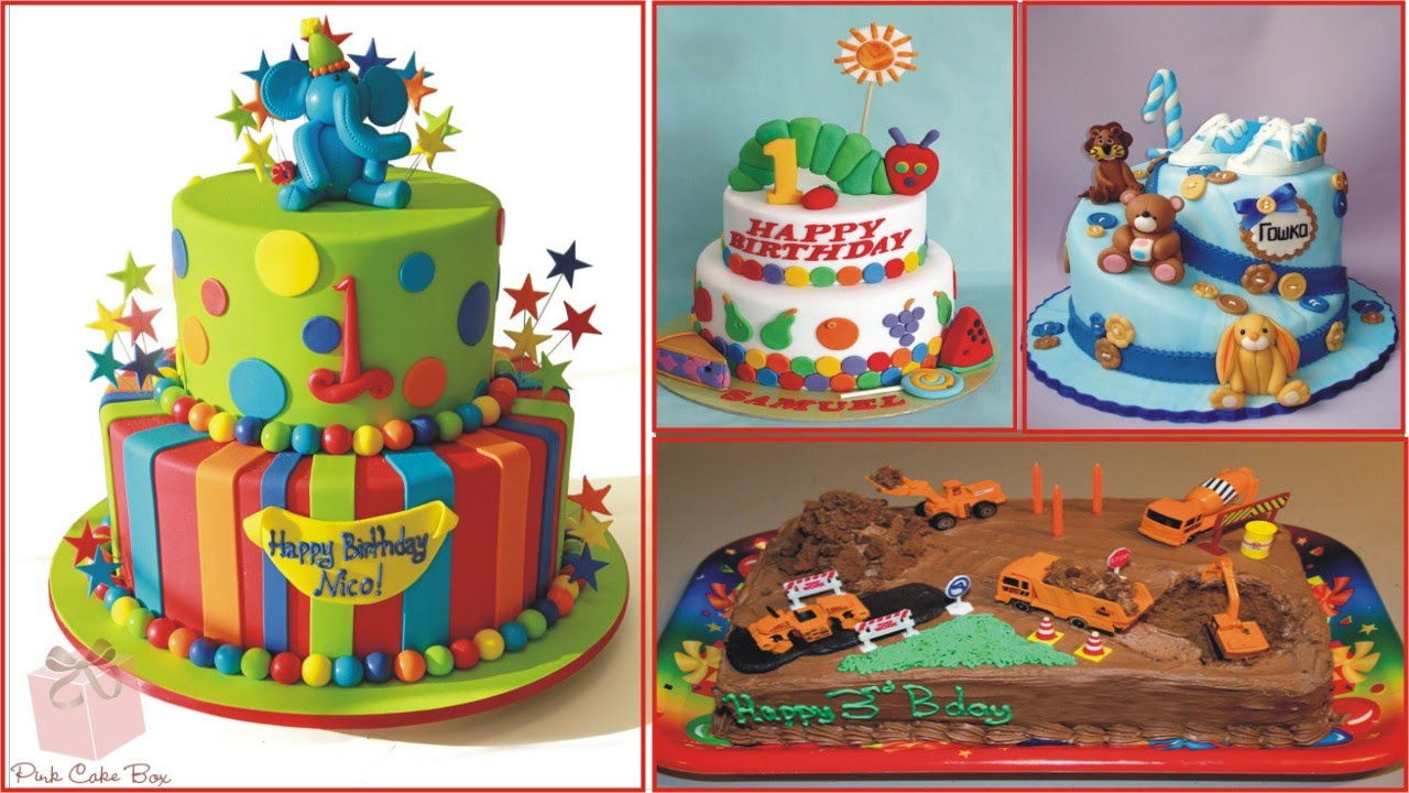 Birthday Cake Ideas For Children YouTube - Colorful diy kids cakes