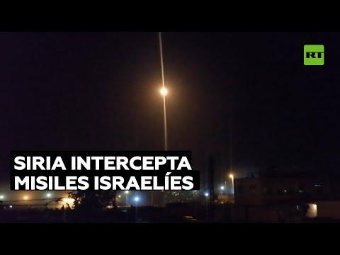 Defensa Aérea Siria Intercepta Misiles Israelíes