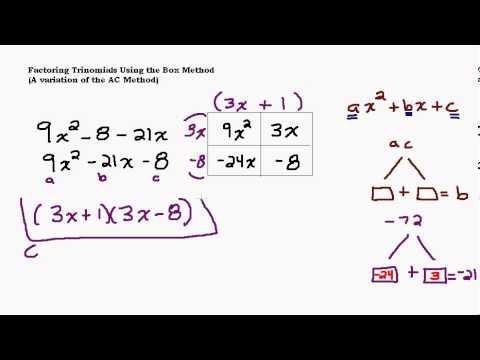 Factoring Tough Trinomials Using The Box Method