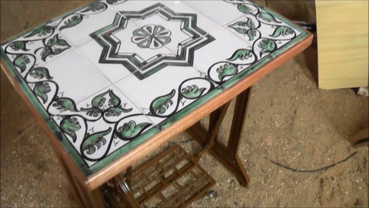 Mesa con patas de máquina de coser antiguas - YouTube