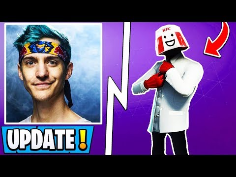 *NEW* Fortnite Update! | Ninja Stream Snipe Ban, KFC Skin, Twitch Prime 3! thumbnail