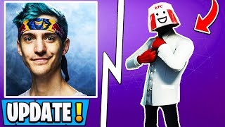 *NEW* Fortnite Update! | Ninja Stream Snipe Ban, KFC Skin, Twitch Prime 3!