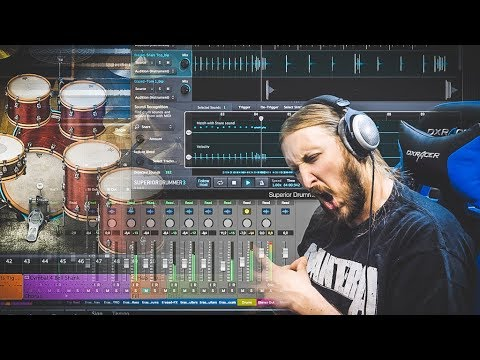CONVERTING REAL DRUMS TO MIDI - SUPERIOR DRUMMER 3