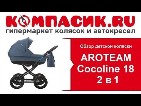 Отличная коляска на классическом шасси AROTEAM Cocoline 18 2 в 1.
