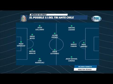 ¡La alineación de México contra Chile!