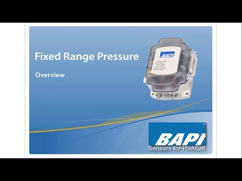 FRP Pressure Sensor - Overview of BAPI's Fixed Range Unit