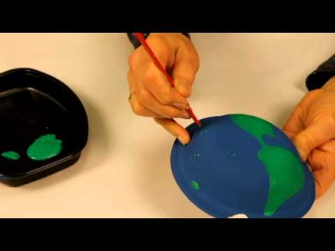 How To Make A Globe With Paper Plates Youtube