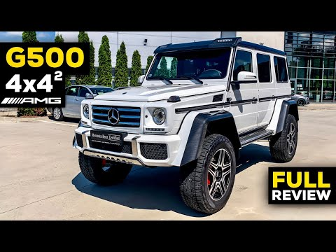 MERCEDES G500 4x4 Squared BRUTAL Offroad V8 Full Review Exhaust Interior Exterior