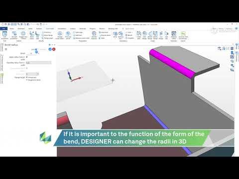 Material and Bending Data | DESIGNER 2022.0