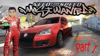 Need for speed most wanted 2005 Gameplay #1 - (volkswagen POLO )