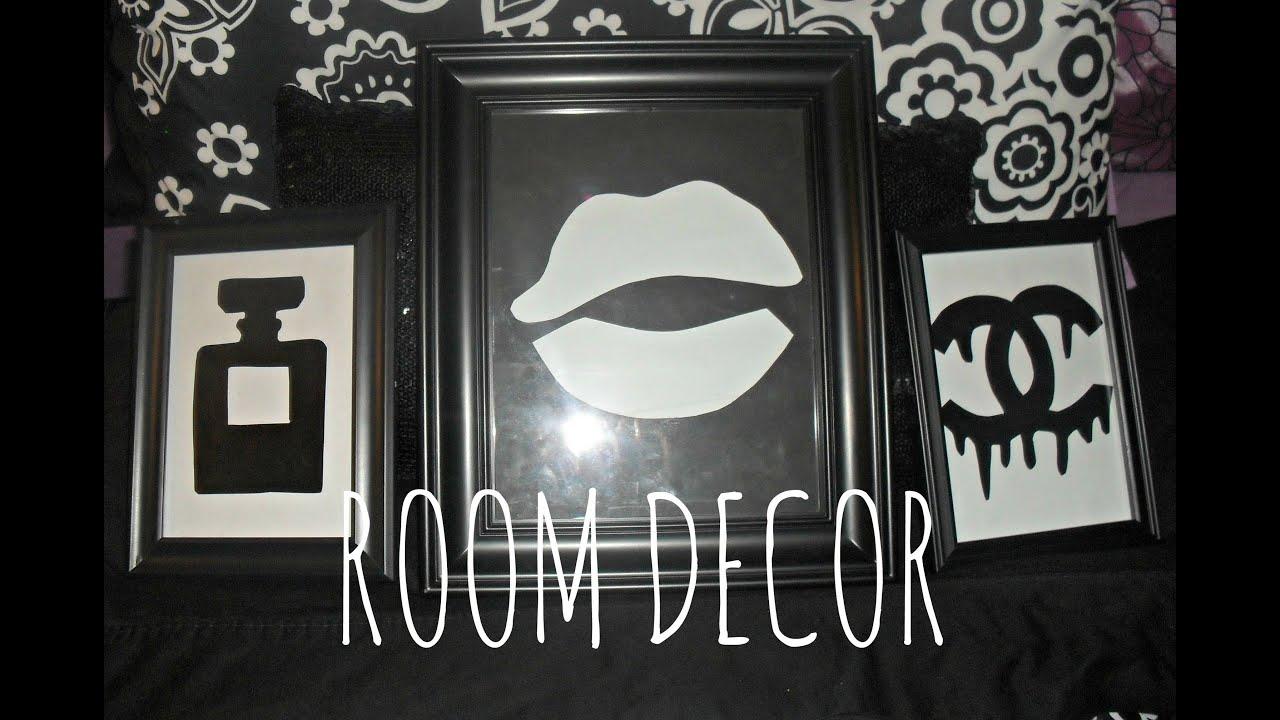 Diy Room Decor Stencil Wall Decor Chanel Dripping Logo