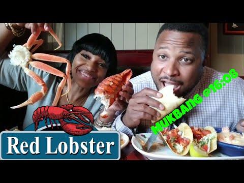 Red Lobster Seafood Mukbang /Lobster /Crab Legs/Lobster Tacos/Pasta