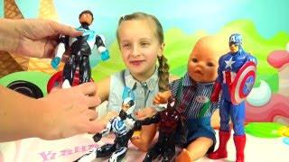 Кукла Бэби Бон Бэн получает подарки на 23 февраля. Игрушки для мальчиков. Doll baby born(Смотрите наши мультики с куклами Барби https://www.youtube.com/channel/UCyb-uAWzRB1efT0Drfdng-w/videos Вот у меня появилась кукла Бэби..., 2016-02-24T14:04:33.000Z)