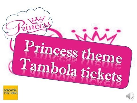 2018 Incredible Princess Theme Kitty Party & Birthday Party Tambola Tickets
