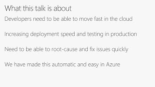 Snapshot debugging and Microsoft Azure diagnostics in action | BRK3187