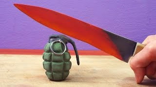 Stop Motion Parody: EXPERIMENT Glowing 1000 degree KNIFE