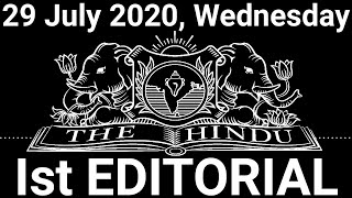 The Hindu Editorial Today | The Hindu Newspaper Today | 29 July 2020 | Digging deeper