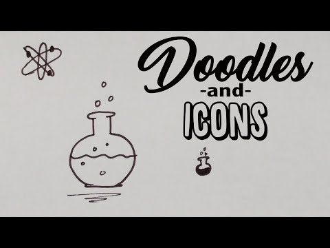 How to Doodle a Science Flask - Doodle and Icon - for Journals, Sketchnotes and Calendars
