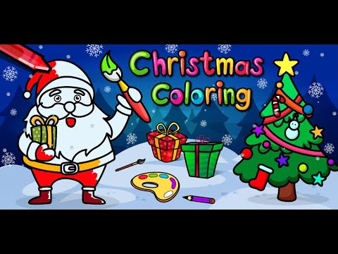 Christmas Coloring Book & Games For Kids And Family - Android App