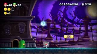 New Super Mario Bros. U - Mont Sorbet - 4-Hanté : Manoir bancal + Sortie secrète