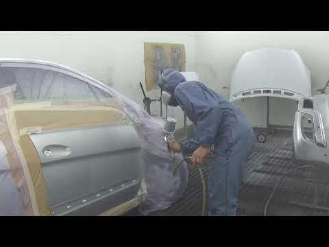 ремонт авто в германии. покраска под толщиномер часть 2